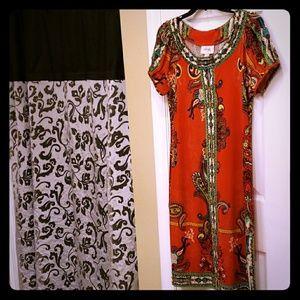 Women's dress size 8 red